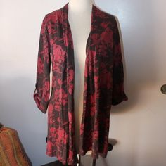 Casual Studio open front floral shirt 3/4 sleeves Casual Studio open front floral shirt 3/4 sleeves NWT size S made in India 100% rayon RN 121145 Anthropologie Jackets & Coats