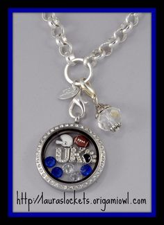 University of Kentucky! LOVE it! WANT it!!! WANT IT FOR FREE?? Ask me how! Need Extra Money? Love Origami Owl ? JOIN MY TEAM! Designer#14669 Like me on FACEBOOK http://www.facebook.com/oragamitouchedbyacharm SHOP ONLINE @ http://touchedbyacharm.origamiowl.com/