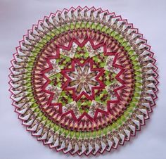 Mandala Teabag folding Diy Craft Projects, Diy Crafts, Paper Folding, Origami, Valentines, Tea, Fruit, Inspiration, Rugs