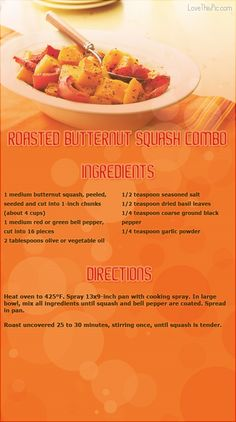 Roasted Butternut Squash Combo thanksgiving recipes thanksgiving recipes easy recipes dinner recipes holiday recipes instructions cooking ingredients recipe