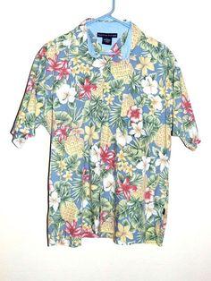 723ff441 Tommy Hilfiger Hawaiian Aloha Shirt L #TommyHilfiger #Hawaiian Tommy  Hilfiger Shorts, Aloha Shirt