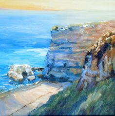Oil on Canvas Painting Workshop, Cliff, Oil On Canvas, California, Outdoor, Watercolor Painting, Outdoors, Outdoor Games, The Great Outdoors
