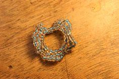 Posts about Oglala stitch written by beadnfun Beaded Earrings, Beaded Jewelry, Crochet Earrings, Beaded Bracelets, Jewellery, Ruffle Beading, Peyote Stitch, Bead Weaving, Creations