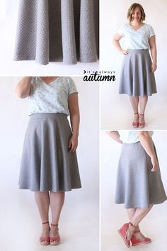 Easy half circle skirt sewing tutorial - no zippers, no buttons, just a cute, easy skirt! How to sew a half circle skirt.