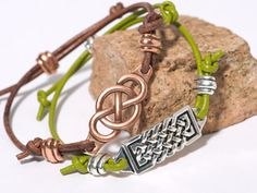 Focal Bracelets featuring the new Leather Findings 2 line by TierraCast designer Tracy Gonzales