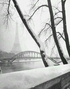 paris en hiver neige