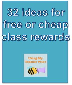 Prize box confessions and 32 ideas for free or cheap class reward ideas from UsingMyTeacherVoice