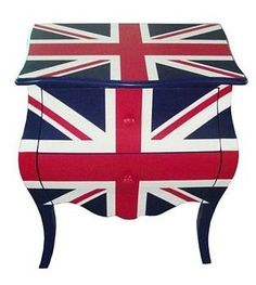 Union Jack Two Drawers Bedside Table by Foxbat Boutique £350