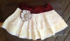 Vintage Lace Doilies Skirt, little girl skirt 1189 - Tittle + Tat. so sweet only $30