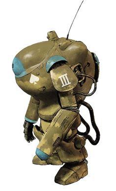 Kow Yokoyama mecha designs for Maschinen Krieger
