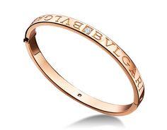 ブルガリ・ブルガリ バングルブレスレット。ダイヤモンドを使用した18Kピンクゴールド製。ホワイトゴールド製およびイエローゴールド製もございます。