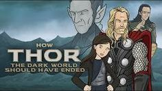 """How Thor: The Dark World should have ended.  """"Your blowin my mind Loke!"""""""