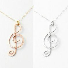 FLASH SALE treble clef necklace by makepienotwar on Etsy
