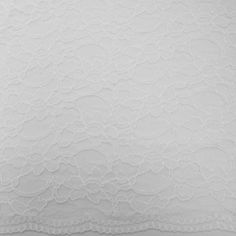 michael levine  corded raschel lace with scalloped edges, white