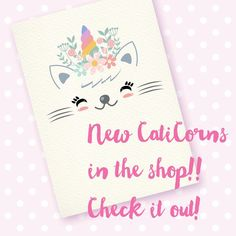 New Caticorns! Cute cliparts for t-shirts, cards, scrapbooking, stickers... or anything you imagine :) Check it out!