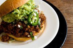 Tex-mex sloppy joe sandwich