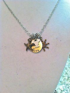 Double Charm Personalized Disney Necklace by byAmandaJane on Etsy, $16.00