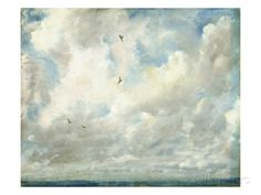 Cloud Study, 1821 (Oil on Paper Laid Down on Board) Impression giclée