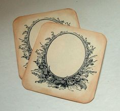 Vintage escort tags Victorian place cards sepia set by 0namesleft