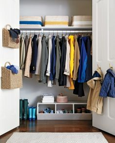 Easy Steps to Organize the Coat Closet