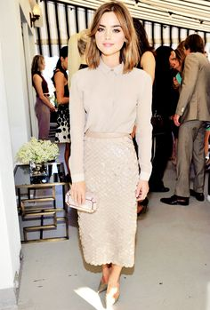 Jenna Coleman. Love what she's wearing here, oh so elegant