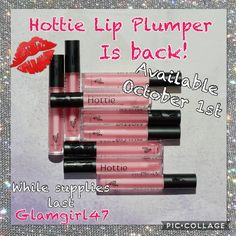 OH HOLY DAY!!! Hottie Lip Plumper is coming back on October 1st!!! This sold out in ALL markets in 24 hours the last time they were available- I'm not kidding! Join and become a presenter today ONLY AND GET TO PURCHASE 2 FOR YOURSELF! Can you tell I'm excited?!