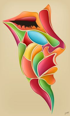 Bright and colorful digital art by Jeremy Young – art Natur Tattoo Arm, Young Art, Young Young, Arte Pop, Art Drawings Sketches, Face Art, Art Faces, African Art, Amazing Art