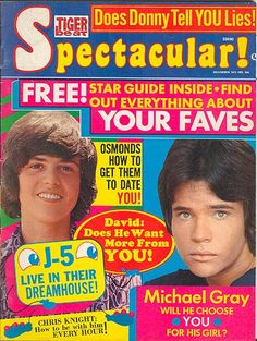 Tiger Beat Spectacular! December 1972