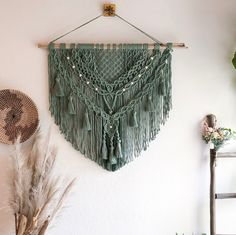 """XL Macrame Wall Hanging/Lovina""""/Fiber Art/Bohemian Decor/Ethnic Wall Decor/Tapestry/Woven Decor baby teether classes adelaide 2020 designs macrame designs fashion designers home decor Macrame Wall Hanging Patterns, Macrame Patterns, Quilt Patterns, Canvas Patterns, Yarn Wall Art, Macrame Design, Macrame Projects, Reno, Tapestry Weaving"""