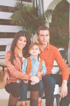 kourtney kardashian, mason disick, & scott disick. Cutest family ever