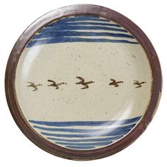 Important Glaze Stoneware Dish by Bernard Leach   1stdibs.com