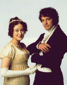 Pride and Prejudice, Colin Firth, Jennifer Ehle, Mr. Darcy, Elizabeth Bennet, Lizzy Bennet, vintage, Jane Austen