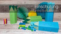 Geschenke schön verpacken: Die Buntstifte sind eine schnelle und kreative Verpackung für Geschenke zum Schulanfang.