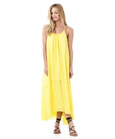 Woven long summer dress in yellow | Gina Tricot New Arrivals | www.ginatricot.com | #ginatricot