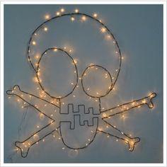 Christmas Lights skull