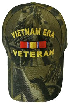 5537fb8ee7f Vietnam ERA Veteran Camo Baseball Cap Real Tree Camouflage Military Hat Vet  Navy Marine