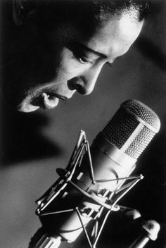 Billie Holiday at the mic, 1946