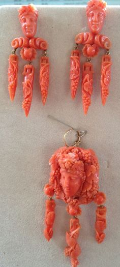 .Carved Victorian Coral set.  If you love this check out Renaissance Fine Jewelry in Vermont.