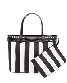 Givenchy Small Striped Leather Tote Brownsfashion The Finest Edit Of Luxury