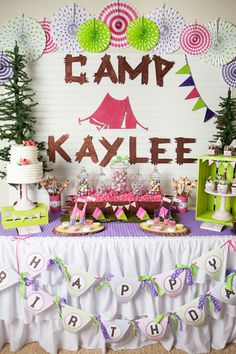 Camping/sleepover birthday party!!!!! I love love love this idea!!!
