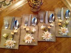 Crochet Placemats, Silverware Holder, Crochet Cross, So Creative, Diy Projects To Try, Garland, Diy And Crafts, Napkins, Quilts