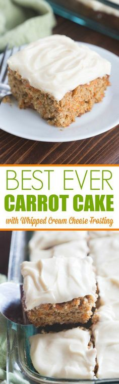 This classic, no-nonsense carrot cake recipe is The BEST! Perfectly light and moist with a light, whipped cream cheese frosting. | tastesbetterfromscratch.com