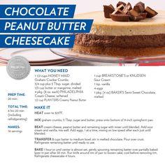 Chocolate Peanut Butter Cheesecake #recipe #dessert
