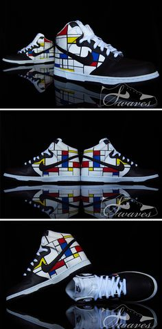 "Custom ""Piet Mondrian"" Nike Dunks"