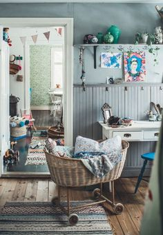 A vintage inspired Swedish home full of soul is part of Kids interior - Every now and again I stumble across a beautifully unique, creative, Swedish home that's full of soul This is one of them Tuva Minna Lin Casa Kids, Deco Kids, Gravity Home, Kids Bedroom Furniture, Furniture Design, Swedish House, Deco Design, Home And Deco, Scandinavian Home