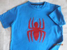 camiseta infantil aranha