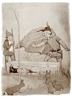 'The Prince saw the glass coffin on the mountain with beautiful Snowdrop lying within.' Snow White Illustration from Fairy Tales - With Illustrations by Margaret Tarrant.