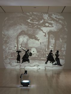 They Waz Nice White Folks While They Lasted (Sez One Gal to Another) by Kara Walker at Indianapolis Museum of Art Kara Walker, Walker Art, African American Artist, American Artists, Modern Art, Contemporary Art, Indianapolis Museum, Famous Artists, Black Art