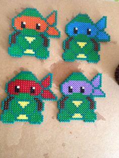 Teenage Mutant Ninja Turtles perler beads by Elfine2010 on deviantart