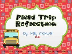Have your students complete this worksheet after your field trip. This is a great way to get them to reflect on their experience/day. Students can write and draw pictures to share their favorite part of their field trip, who they hung out with, and why they would like to return again.